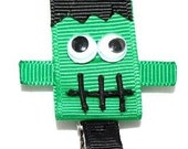 Frankenstein Ribbon Sculpture Hair Clippie