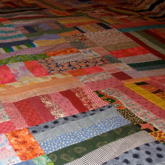 SALE - Colorful Crazy Quilt