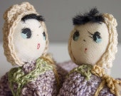 Crocheted baby twins - FREE WORLDWIDE SHIPPING
