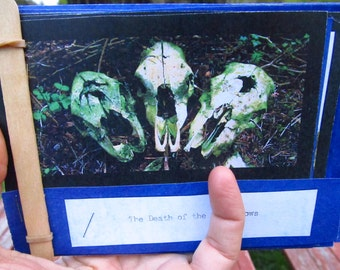 The Death of The Three Cows - HANDMADE HANDBOUND Book - A Fable in Photos - Sweet Olive Misprint NO 9