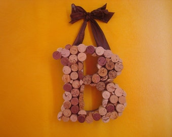 Wine Cork Letter Wall Decor