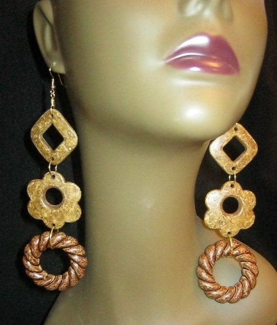 Natural Flower - Dangle Earrings
