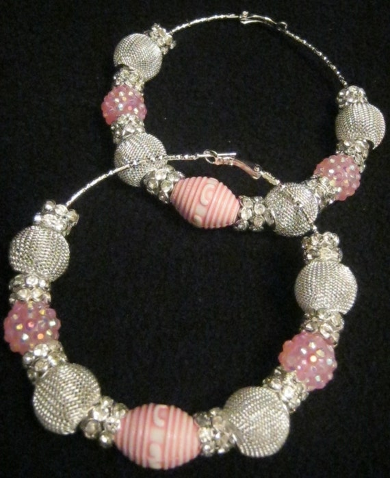 Pink Chinese Lantern - Basketball Wives Inspired Hoop Earrings (Limited Edition - Only one available)
