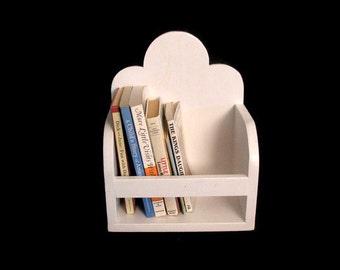 CLOUD BOOK ORGANIZER - For Tabletop or Wall Shelf, Children's & Nursery Decor
