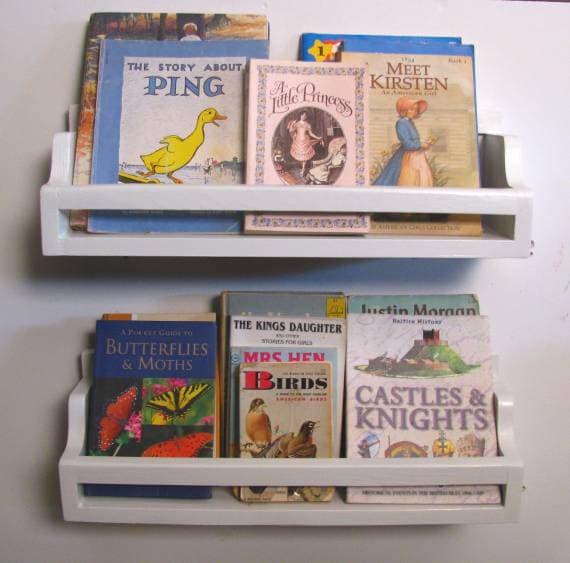 RESERVED FOR Kara.  - 3 Beadboard Bedtime Bookshelves in White