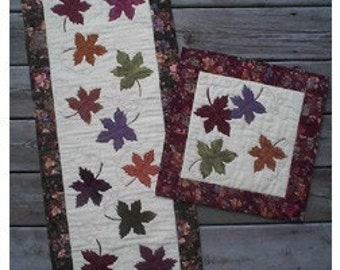 Shades of Autumn Pattern for Quilted Runner or Pillow