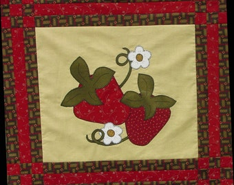 Wall Hanging Quilt Kit Stawberry Season