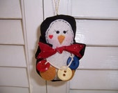 Handmade Fabric Penguin Ornament
