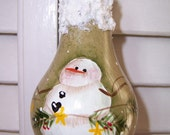 Handpainted LIght Bulb Ornament