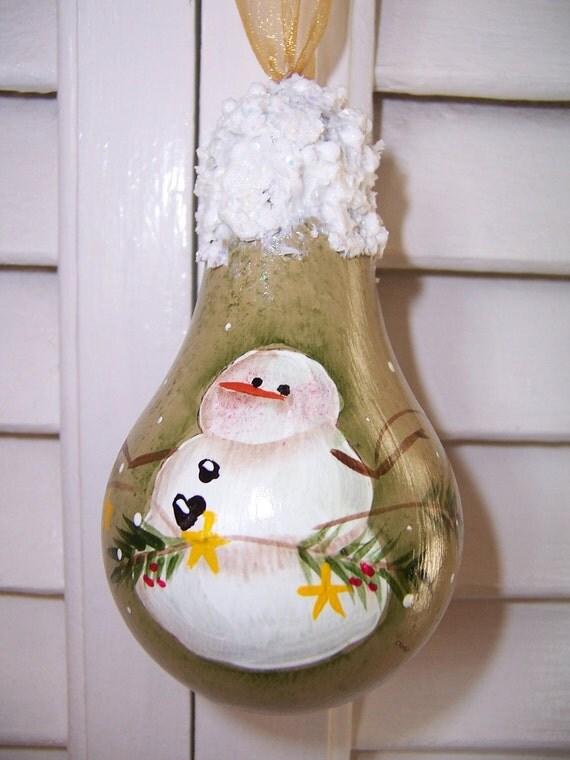 Handpainted LIght Bulb Ornament