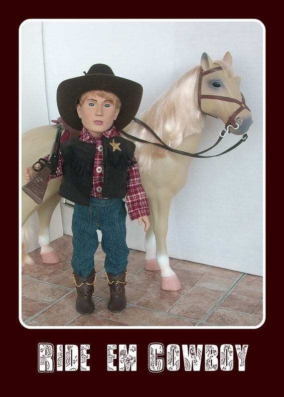 Western Sheriff Cowboy Outfit For 18 Inch Boy By