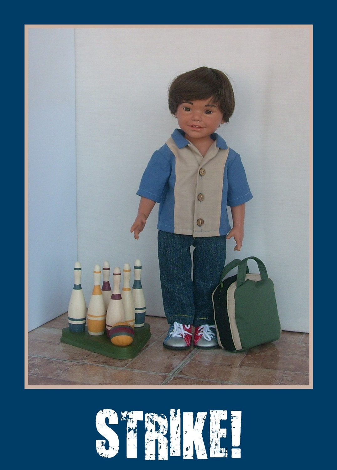 bowling outfit 18 inch doll clothes for carpatina magic