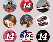1 Inch Circle Images for bottle cap, scrapbooking, cupcake badge or other - Tony Stewart 14 Racing with Automatic Digitla Download