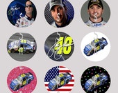 1 Inch Circle Images for bottle cap, scrapbooking, cupcake or other - Jimmy Johnson 48 Racing with Automatic digital download