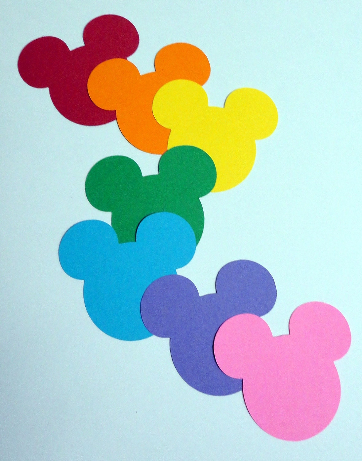 Mickey Mouse Silhouette Match rainbow mickey mouse