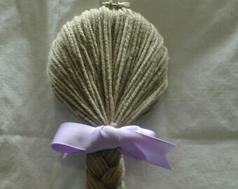 Rapunzel Hair Clip Organizer and Holder in Beautiful Light Brunette