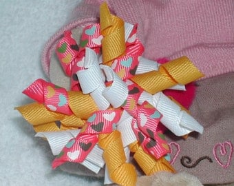 Sweet Hearts Korker Bow Hair Clip