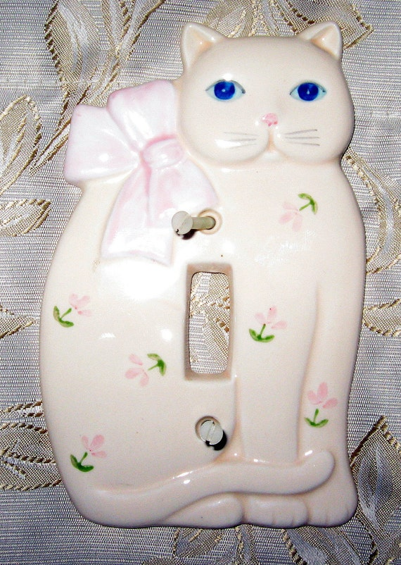 Vtg. 50s Millard Lister Sales Ltd. Cat light switch by bethbunny