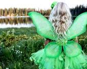 TINKERBELL FAIRY PRINCESS - Girl's Halloween Costume- Infant Toddler (12 months - 6T) - Green - CUSTOM ORDER