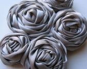 CLASSY Satin Flower Cluster headband or hairclip - Silver Gray - Perfect Match to Satin Edge PRINCESS TUTU