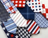 Little Guy Necktie Tie - LIBERTY Collection - (12 months - 2T) - Baby Boy Toddler - Wedding - Photo Prop- 4th of July