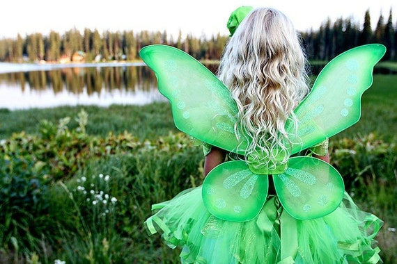 TINKERBELL FAIRY PRINCESS - Girl's Halloween Costume- Infant Toddler (12 months - 6T) - Green - CUSTOM ORDER