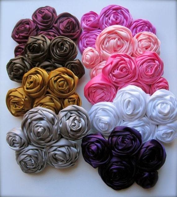 CLASSY Satin Flower Cluster headband or hairclip - Perfect Match to Satin Edge PRINCESS TUTU