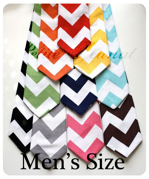 Big Guy Necktie Tie - CHEVRON Collection - (Mens Size) - Wedding - Photo Prop - perfect match to Little Guy necktie