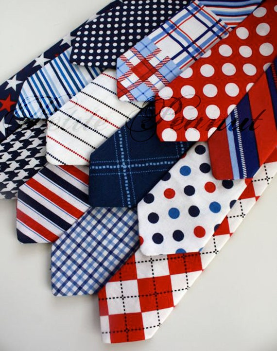 Little Guy Necktie Tie - LIBERTY Collection - (2T - 4T) - Baby Boy Toddler - Wedding - Photo Prop- 4th of July