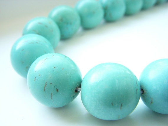 Chunky Turquoise Beads, 6pcs, Big Large Jumbo, Round, 15-18mm