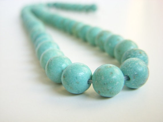 Sale Turquoise Beads Round 7mm- 8mm Strand