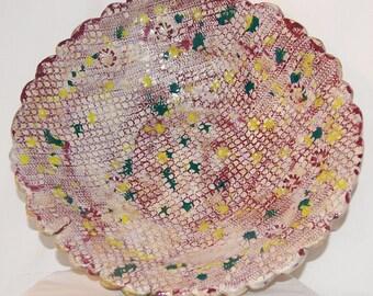 Burgundy Lace Serving Platter