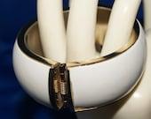Vintage 1960 White Wide Bracelet