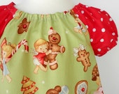 YUMMY CHRISTMAS CUTE TUNIC DRESS with PRESENT POCKET Size 2T  READY TO SHIP