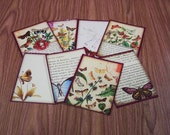 16 Butterfly Gift Tags. 2 SETS of 8 Butterfly Thank You Cards. 4878
