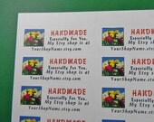 60 PERSONALIZED Handmade Especially For You Labels. 2 Sheets White 1-Inch Labels. 2464