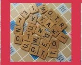 25 Random Scrabble Tiles. Vintage. I HAVE MORE Tiles. If You Want More, Convo Me. Item 2543