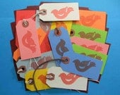 16 Thank You Tags With String. 16 Red Bird Thank You Tags With String. 2600