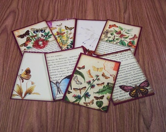 16 Butterfly Gift Tags. 2 SETS of 8 Butterfly Thank You Cards. 5237