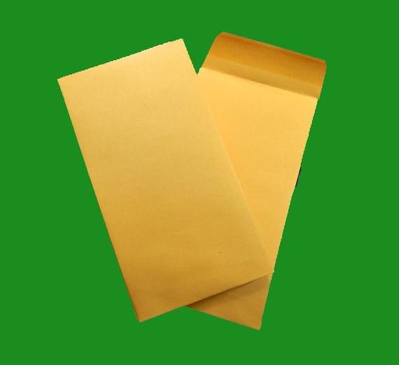 """50 Kraft Envelopes With Gummed Closure. 3.5x6.5"""". 2512"""