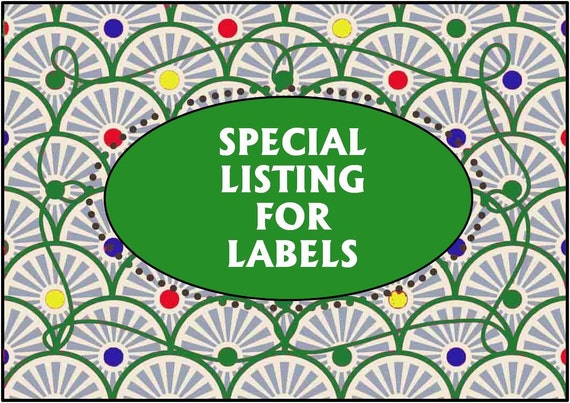 RESERVED for RACHEL / 120 PERSONALIZED Labels. 4 Sheets of Clear 1-Inch Labels 2898