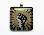 Fist of Power - Glass Pendant