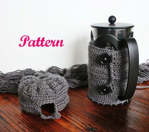 Crochet Starbucks Bodum Kenya French Press Coffee Maker Cozy