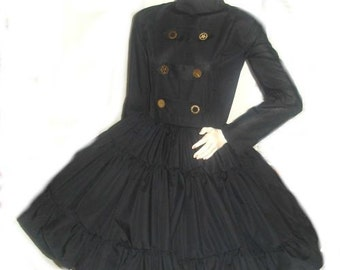 Steampunk Military Dress Black Military Gothic Lolita Dress Steam Punk Dress Goth Loli Dress Custom Size including Plus Sizes