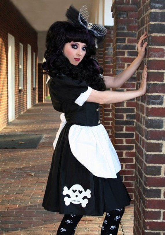Cute Skull Gothic Rag Doll Dress Lolita Cosplay Kawaii Cute
