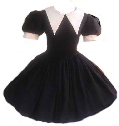 gothic lolita dress cute wednesday addams goth loli dolly. Black Bedroom Furniture Sets. Home Design Ideas