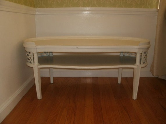 Shabby Chic Oval Coffee Table