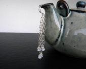 Dangling Crystal Dewdrop earrings