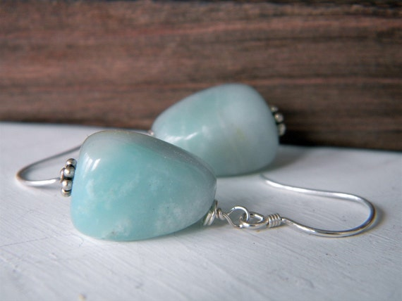 Sky blue Aquamarine earrings