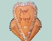 Primitive E Pattern pdf Dear Friend Heart INSTANT DIGITAL DOWNLOAD